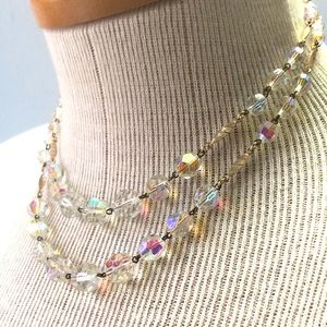 Aurora Borealis Crystal Necklace W Germany